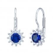 Silvego Stříbrné náušnice s křišťálem v barvě královská modrá - YO3547BL