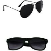 Lee Topper Aviator, Wayfarer, Sports Sunglasses(Black)