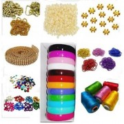 Vahvaa Silk thread bangle making kit with thick bangles multiple decorating accessories !!