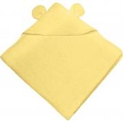 Bubaba ručnik s kapuljačom s ušima 100x100 cm žuti