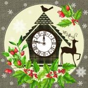 Lunchservet Christmas Clock