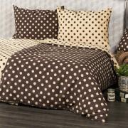 Lenjerie pat 2 pers. 4Home Buline Ciocolată, 220 x 200 cm, 2 buc. 70 x 90 cm