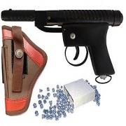 DYNAMIC MART Cobra Air Gun 100 Bullets With Cover (Pack of 1) (Black)