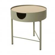 Maisons du Monde Tavolino da salotto in vetro fumé e metallo grigio antracite