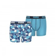 Puma Camo Rock Print Boxer Boys Blue Danube