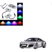 Auto Addict Car 12 LED RGB Roof Light with IR Remote Car Fancy Lights For Audi R8