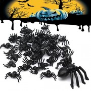 Winnerbe 150pcs Halloween Plastic Spiders Spider Funny Joking Toy Decoration
