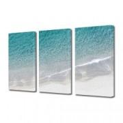 Tablou Canvas Premium Peisaj Multicolor Marea si plaja vazute de sus Decoratiuni Moderne pentru Casa 3 x 70 x 100 cm