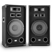 "PA-1200 Set Altoparlanti Audio Fullrange 2x12"" Subwoofer 1000w max"