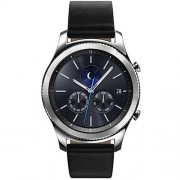Samsung Gear S3 SM-R770 Classic Bluetooth Smart Watch - Caja Plata Cuero Negro