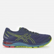 Asics Running Men's Gel-Cumulus 20 G-TX Trainers - Peacoat/Neon Lime - UK 9.5 - Blue