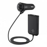 Belkin Road Rockster Car Charger - зарядно за кола с 4 USB порта за смартфони, таблети и мобилни устройства (черен)