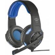 Casti Gaming cu Microfon Trust GXT 350 Radius 7.1 Surround USB Negru-Albastru