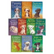 Holly Webb 10 books Collection Puppy and kitten Childrens Gift Set Sophy William (Timmy in Trouble, Max the Missing Puppy, Sam the Stolen Puppy, Buttons the Runaway Puppy, Harry the Homeless Puppy, mo