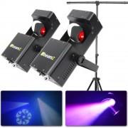 2x BeamZ Wildflower LED scanner met standaard