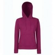 Lady-Fit Hooded Sweat Burgundy