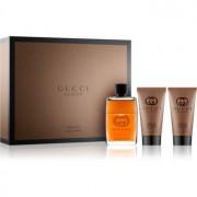 Gucci Guilty Absolute lote de regalo I. eau de parfum 50 ml + bálsamo after shave 50 ml + gel de ducha 50 ml