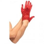 Luvas De Cetim Vermelhas