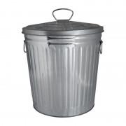 Xenos Afvalbak zilver - 7 liter