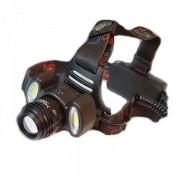 Lanterna Frontala LED+2COB 5W, Zoom, Acumulatori 12V 220V BLC862T6