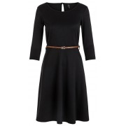 Vero Moda Rochie pentru femei VMVIGGA FLAIR 3/4 SLEEVE DRESS Black XS