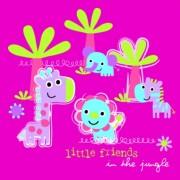 Lunchservet Jungle Little Friends pink