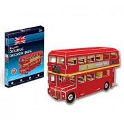CubicFun S3018h Mini Double Decker Bus 3d Puzzle, 66 Pieces