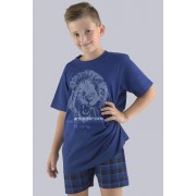 Pijama baieti King albastru 140146