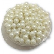 De-Ultimate (Pack Of 500 Gram) 8Mm Plain White Moti Balls Pearls Beads For Jewellery Beading Decorations Arts And Crafts