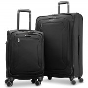 Samsonite Explore Eco 2 Piece Softside 4 Wheel Spinner Suitcase Luggage Set
