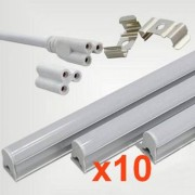 Silamp Tube néon LED 150cm T5 24W (Pack de 10) - couleur eclairage : Blanc Neutre 4000K - 5500K