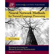 Neural Network Methods in Natural Language Processing, Hardcover/Yoav Goldberg