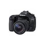 Câmera Canon EOS 80D Dslr, 18-55mm, 24.2MP, Full Hd, Wi-Fi