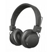 HEADPHONES, TRUST Leva, Bluetooth, Microphone, Black (21754)