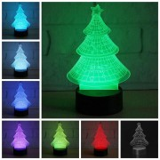 Christmas USB Powered Tree Colorful Touch Night Light Tree Decoration Toys For Kids Children Gift