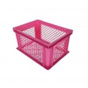 Ben Tools Roze kunststof fietskrat/opbergkrat 40 x 30 x 22 cm