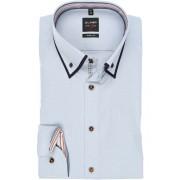 OLYMP Level Five Body Fit Hemd bleu, Faux-uni Herren 40 - M bleu