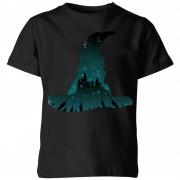 Harry Potter Sorting Hat Silhouet kinder t-shirt - Zwart - 7-8 Years - Zwart