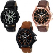 Armado AR-166281 Combo Of 3 Elegant Analog Watches-For Men
