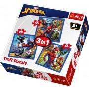 Trefl Puzzle Slagalica 3u1 Spiderman (34822)