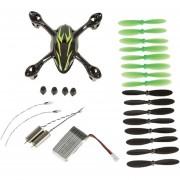 Quadcopter Spare Parts Crash Pack Para Hubsan X4 H107C (Negro Verde)
