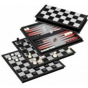 Joc de Sah table si dame magnetic 31.8x31.8 cm design Staunton