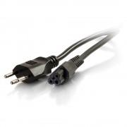 C2G Swiss Laptop Power Cord - Cabo de alimentação - IEC 60320 C5 para SEV 1011 (M) - AC 250 V - 2 m - moldado - preto - Suíça