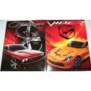 Muscle Car 2 Folder Set ~ Dodge (Orange Dodge Viper Srt, Red Challenger R/T)