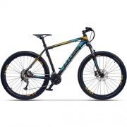 "Bicicleta CROSS GRX 9 DB 27.5"" negru/albastru/ galben 46 cm"