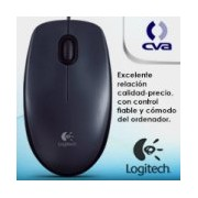MOUSE LOGITECH M90 NEGRO OPTICO ALAMBRICO USB PC/MAC