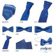 Lesklá modrá regata + stejný kapesníček AVANTGARD 577-9013-0
