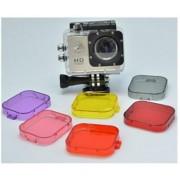 Set Diving Filter Gopro HERO 3 en SJ4000 Onderwater Correctie Filters, 6 kleuren