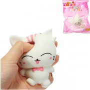 Squishy White Cat Kitten Soft Slow Rising Cute Animals Cartoon Collection Gift Deocor Toy