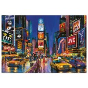 Puzzle fosforescent Educa - Times Square, 1000 piese, include lipici puzzle (13047)